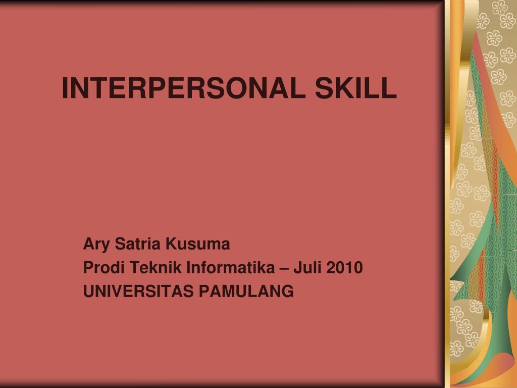interpersonal skill l.