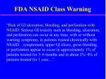 fda nsaid class warning