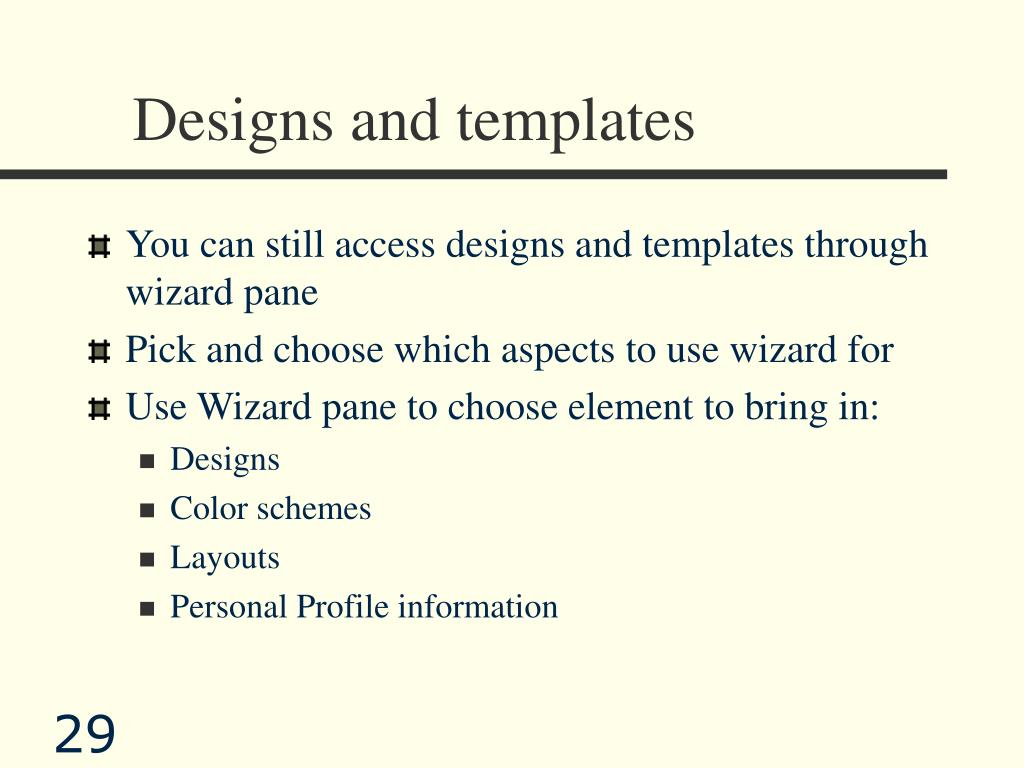 Designs and templates
