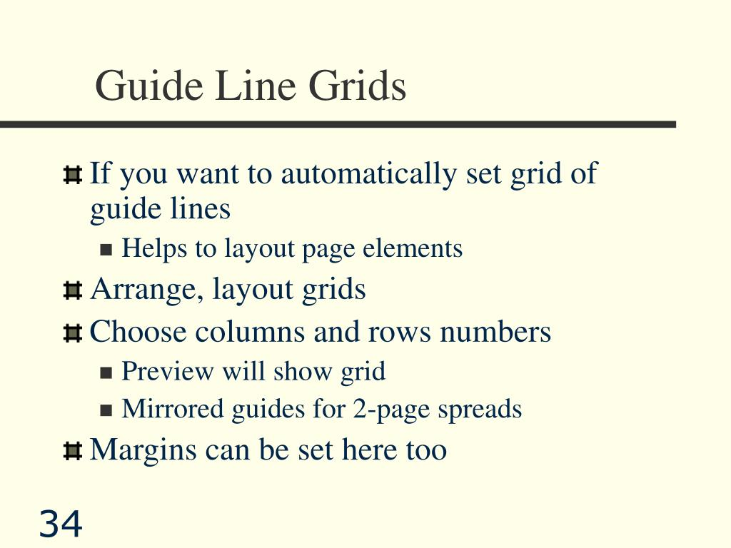 Guide Line Grids