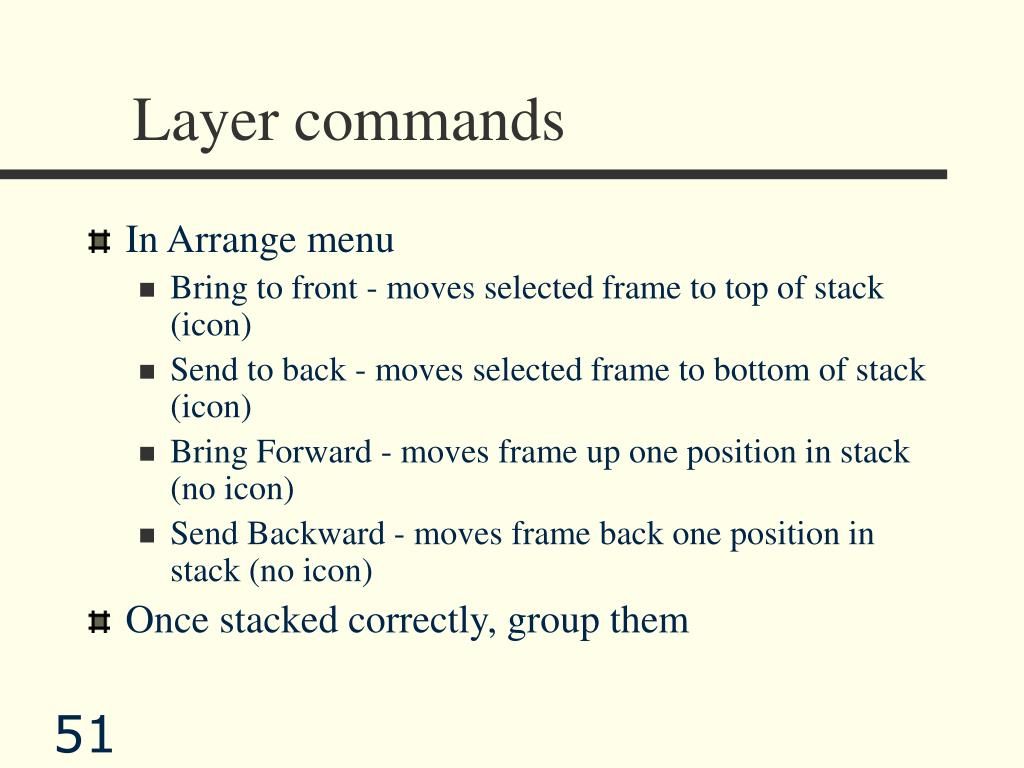 Layer commands