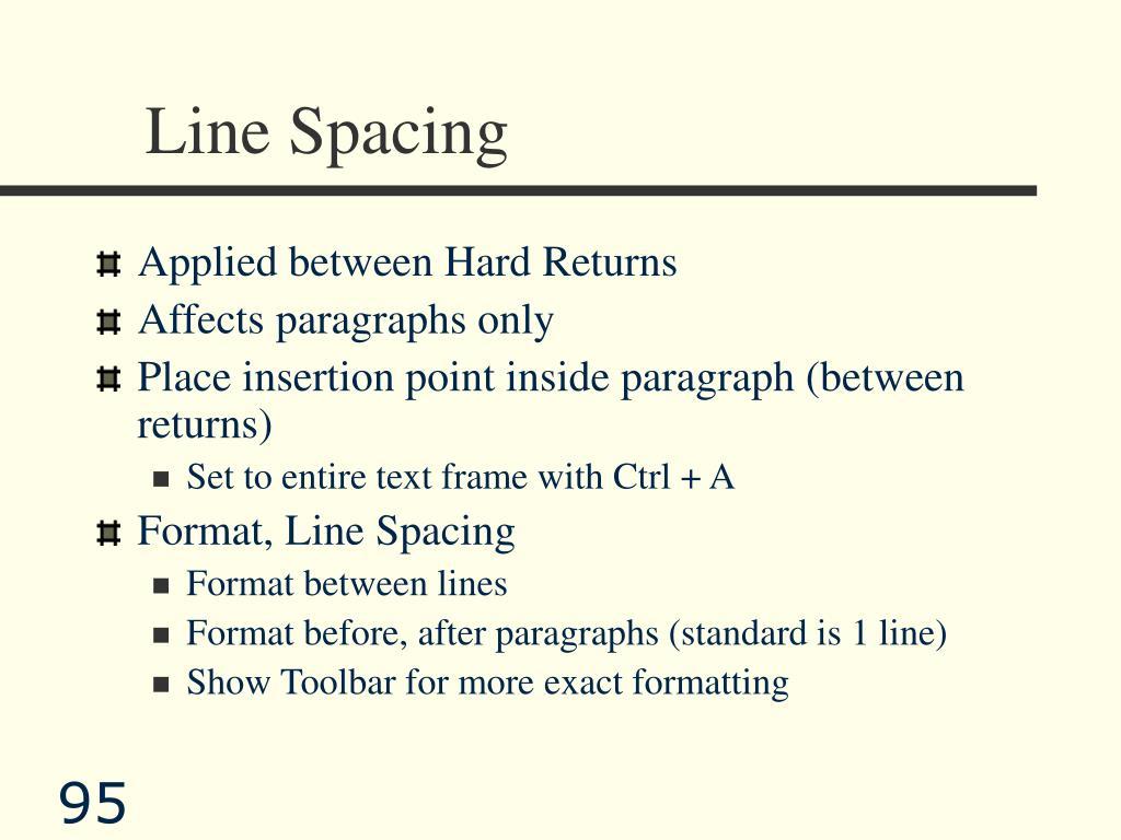 Line Spacing