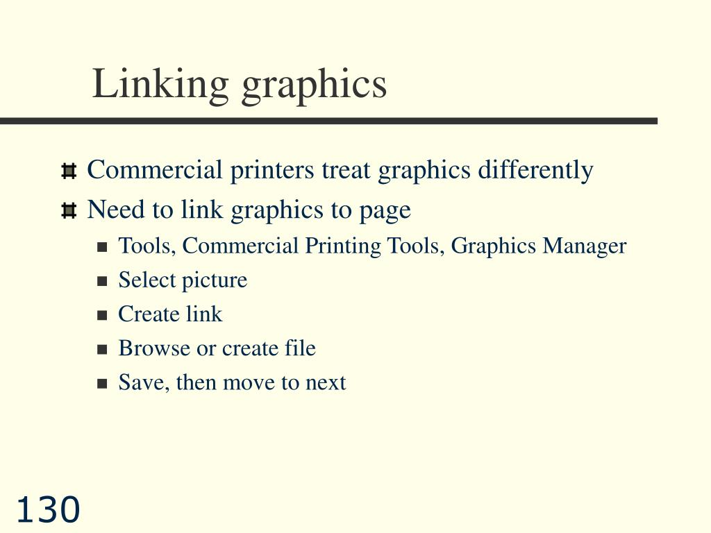 Linking graphics