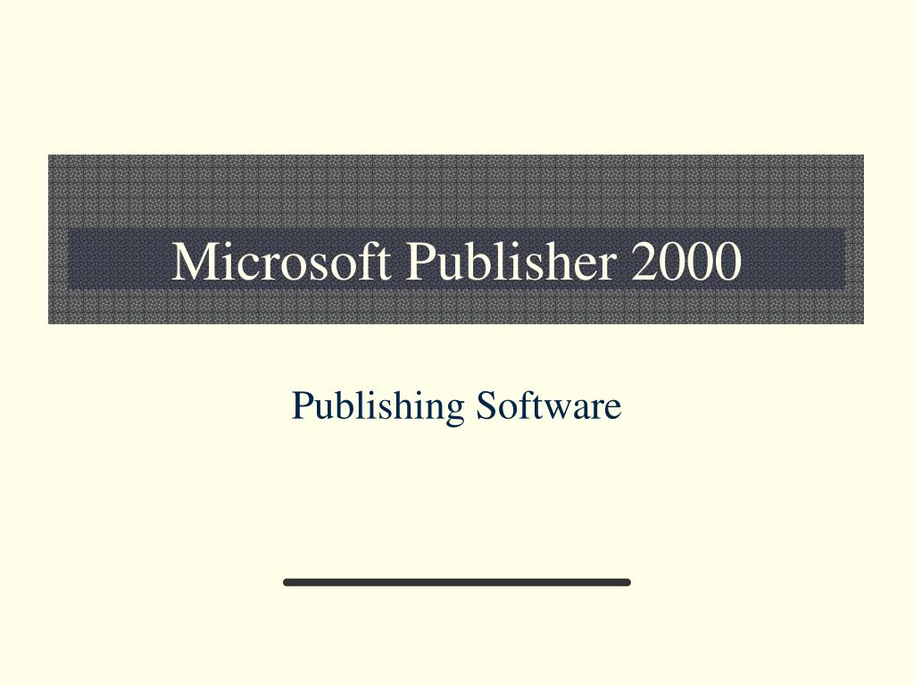 microsoft publisher 2000 l.