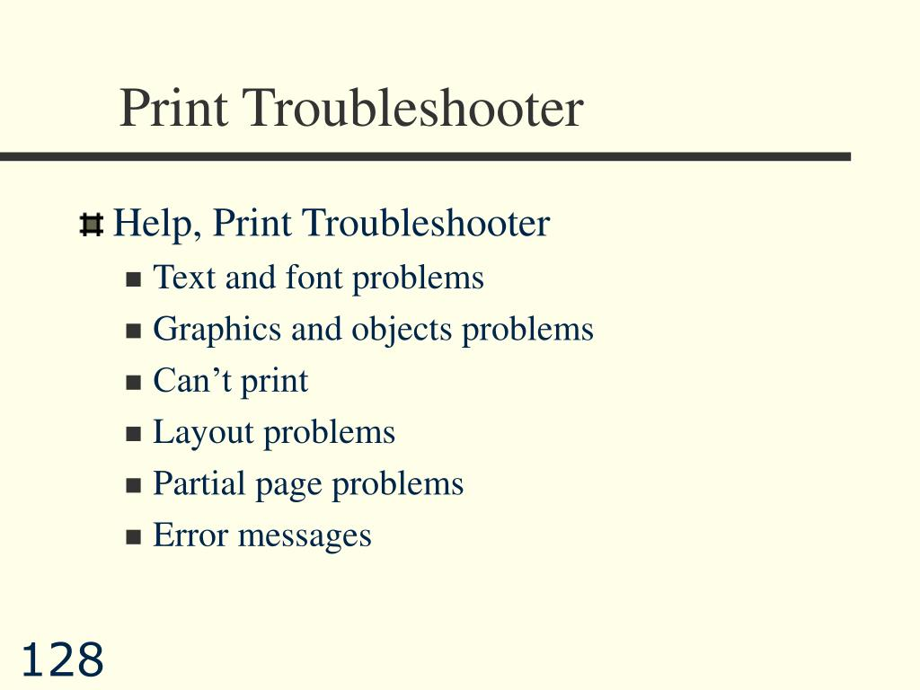 Print Troubleshooter