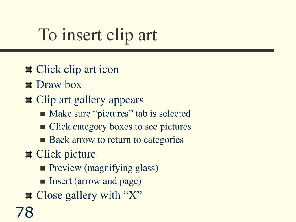 To insert clip art