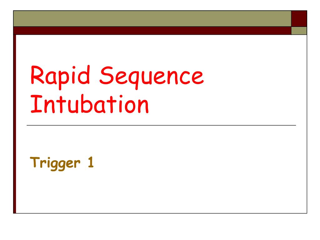 rapid sequence intubation l.