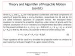 theory and algorithm of projectile motion contd