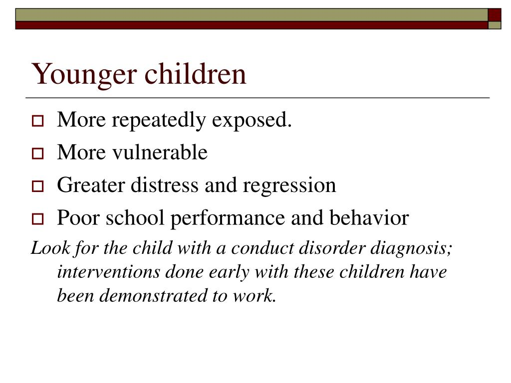 Younger children
