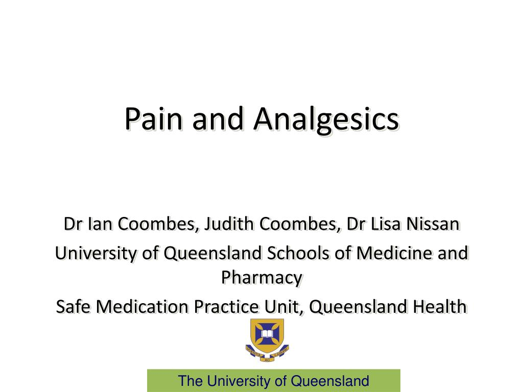 pain and analgesics l.