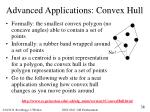 advanced applications convex hull