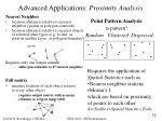 advanced applications proximity analysis