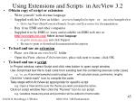 using extensions and scripts in arcview 3 2