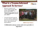 what is a trauma informed approach to services