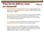 what service delivery areas are measured