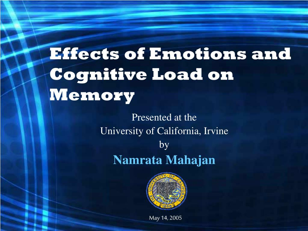 effects of emotions and cognitive load on memory l.