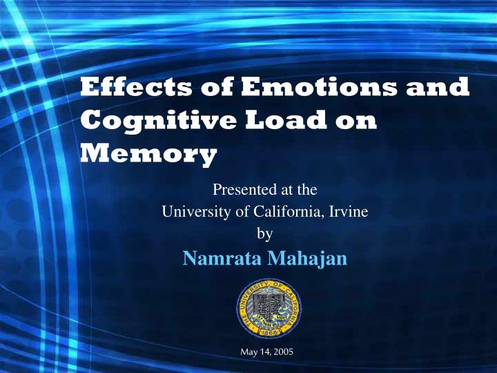 effects of emotions and cognitive load on memory n.