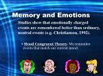 memory and emotions