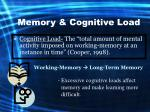 memory cognitive load