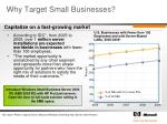 why target small businesses