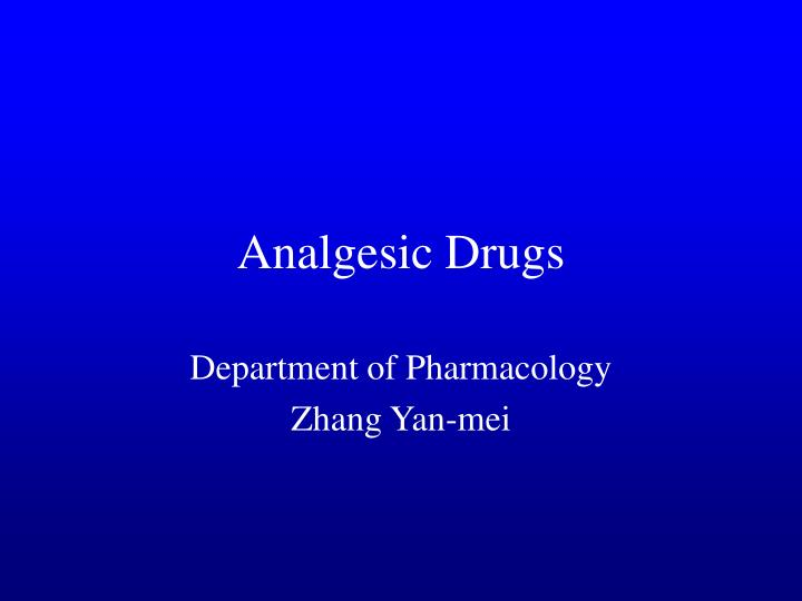 analgesic drugs