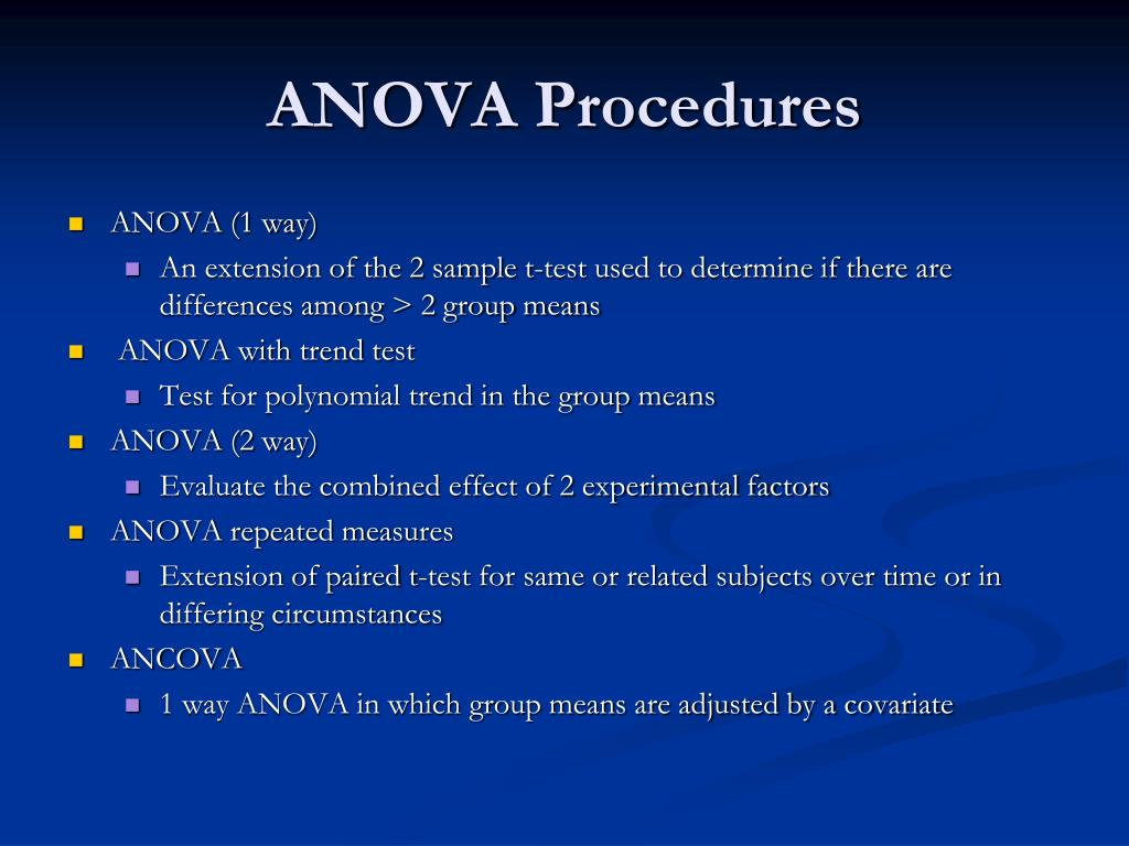 anova procedures l.