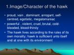 1 image character of the hawk