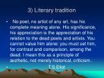 3 literary tradition