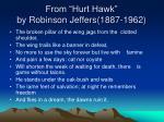 from hurt hawk by robinson jeffers 1887 1962