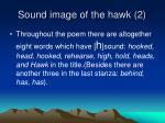 sound image of the hawk 2