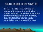 sound image of the hawk 4