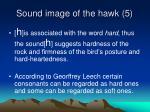 sound image of the hawk 5