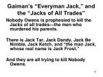 gaiman s everyman jack and the jacks of all trades