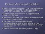 patient maintained sedation1