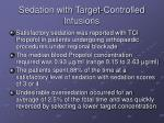 sedation with target controlled infusions1