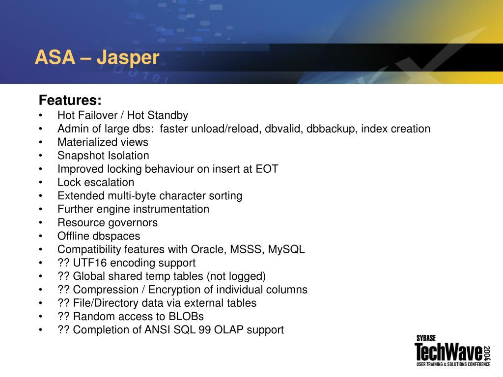 ASA – Jasper