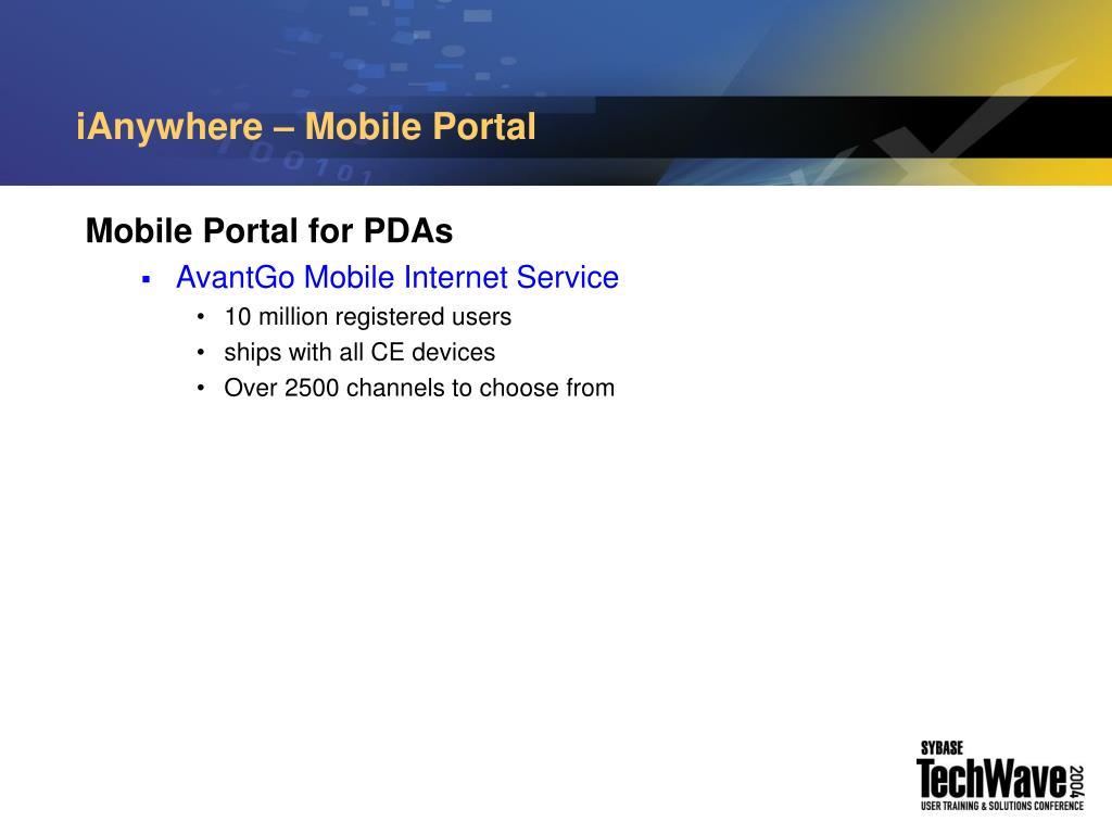 iAnywhere – Mobile Portal