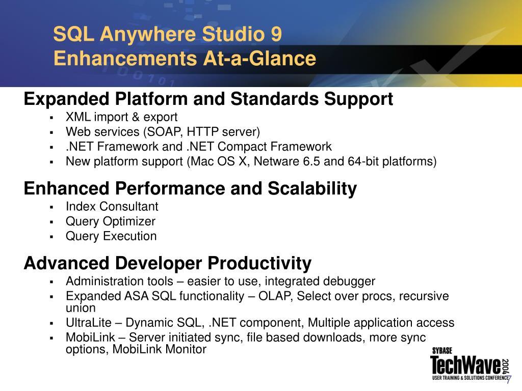 SQL Anywhere Studio 9