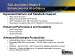 sql anywhere studio 9 enhancements at a glance