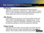 sql anywhere studio components10