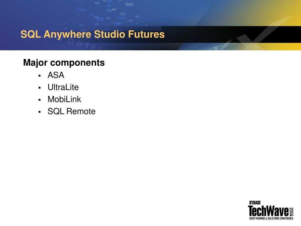 SQL Anywhere Studio Futures