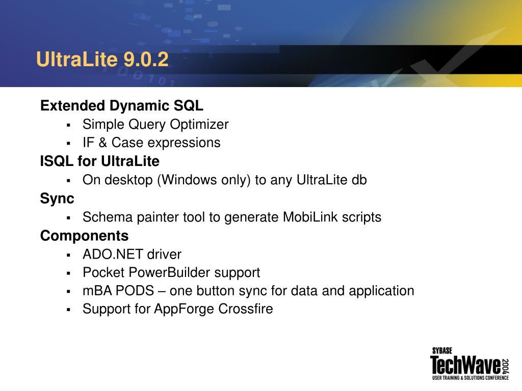 UltraLite 9.0.2