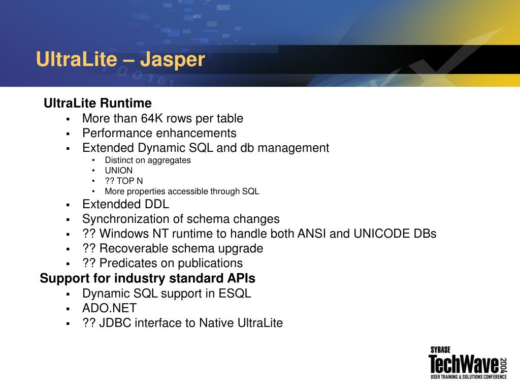 UltraLite – Jasper