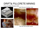 drift fillcrete mining