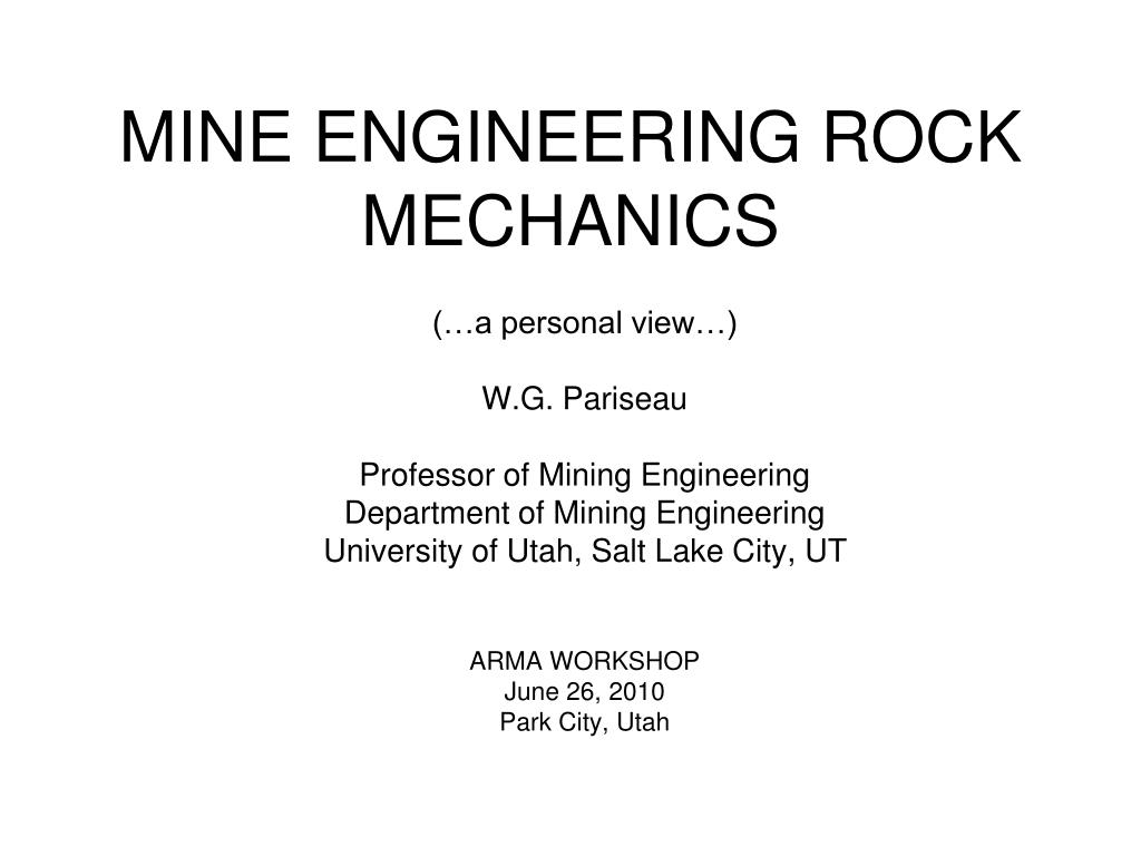 mine engineering rock mechanics l.