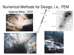numerical methods for design i e fem15