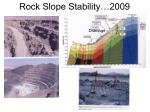 rock slope stability 2009