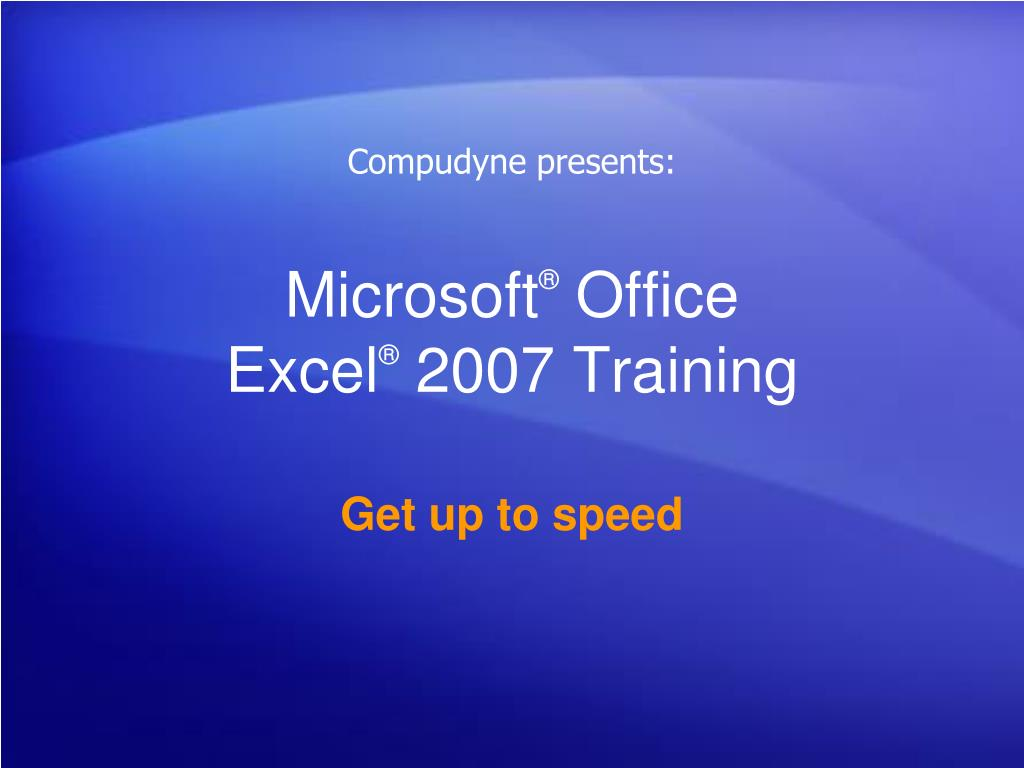 microsoft office excel 2007 training l.