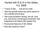 hamlet with r g in the globe ii 2 265ff
