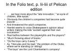 in the folio text p lii liii of pelican edition